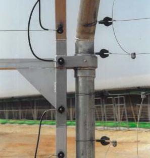 גדר חשמלית למטרות אבטחה כולל מערכת התראה