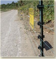 גדר חשמלית קבועה למניעת חדירת בע