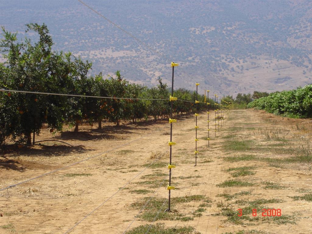גדר חשמלית קבועה ניידת למניעת חדירת בעח מזיקים